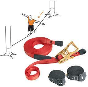 Mon futur nouveau passe-temps : la slackline (le cable porteur à tension variable)