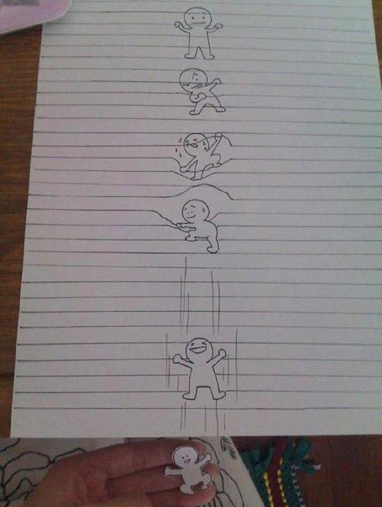 Sortir d'une feuille de papier